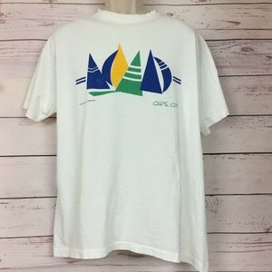 Vintage 80s Cape Cod Sailing T-Shirt XL Sailboats